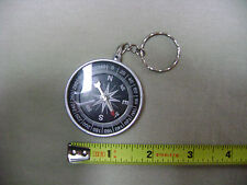 Plastic Compass Keychain with Keyring (NEW) USA Seller