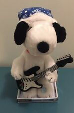 Christmas Singing Animated Snoopy Plush Guitar Plays Linus and Lucy Peanuts NEW