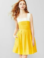 GAP WOMENS YELLOW JACKET FIT& FLARE SEXY SUNDRESS SIZE 0 SOLD OUT SPR15 S/227513