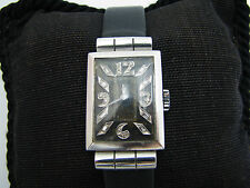 a1083 Vintage 1930's Glycine Watch in Platinum with Diamond Markers