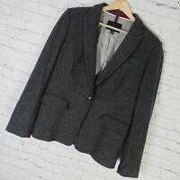 Banana Republic Jacket Womens Size 12 Gray Wool Blend
