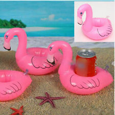 6PCS Top Mini Red Flamingo Floating Inflatable Drink Holder Pool Bath Toy XM