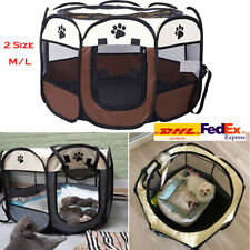 Portable Pet Tent Dog Cat House Cage Playpen Puppy Kennel Outdoor Supplies DHL