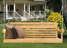 Home Outdoor 5 Ft Scandinavian Grandpa Porch Swing Rot-Resistant Cypress Lumber