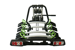 Platform Car Rack 4 Tow Bar Ball Bike Carrier Bicycle with Turning Lights Tiltin