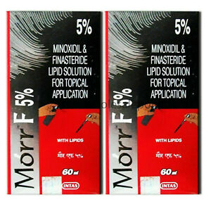 2 Pack Morr F 5% Hair Regrowth DHT blocker FDA approved 60ml Free Shipping