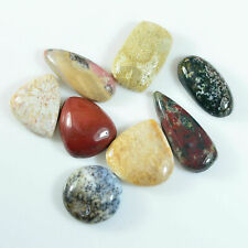 92.85Ct Natural fossil coral jasper opal Agate Cabochon pendant bead mixed Lot