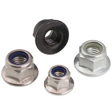 Nylon Insert Flange Lock Nut 304 Stainless Steel Grade 2 Metric Coarse For Bolts