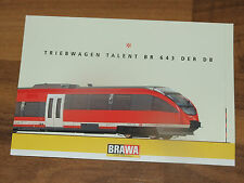 20x AK BRAWA Triebwagen Talent BR 643 Der DB 10 x 15 cm ungelaufen