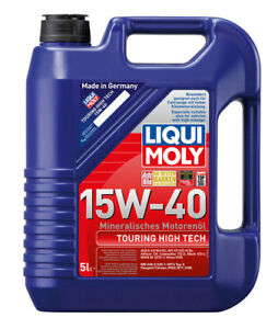 Liqui Moly Touring High Tech Engine Oil 15W40 5L fits Volkswagen Beetle 1.1 (...