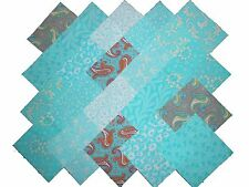 40 5 inch Quilting FABRIC squares WORLD OF AQUAS Charm pack/BUY IT NOW-