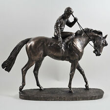 Race Horse On Parade Cold Cast Bronze Sculpture / Figurine By David Geenty.New