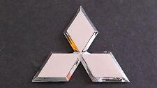 Chrome Diamond Badge 8cm Mitsubishi