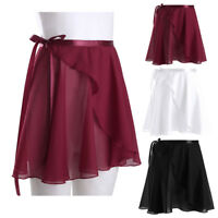 Women Girls Chiffon Ballet Tutu Dance Skirt Skate Over Wrap Scarf Swan Costume