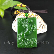 Green Jade Horse Bat Pendant Necklace Charm Jewellery Fashion Accessories Hot