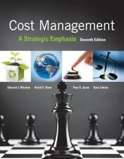 Cost Management: A Strategic Emphasis by Edward Blocher: Used