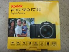NEW Kodak PIXPRO FZ152 Compact Digital Camera 16MP 15x Zoom 720p (Black)