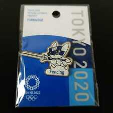 a39)TOKYO 2020 OFFICIAL LICENSED PRODUCT PIN BADGE Fencing