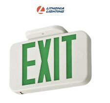 Lot Of 6 Lithonia Lighting Green Exit Led Emergency Exit Sign 210lcg Ac Only