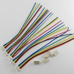 5 SETS Micro JST SH 1.0mm 6 Pin Connector M/Plug F/Wire 100mm