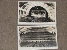 RPPC, Radio City Music Hall, Worlds Largest Theatre (2) unused vintage cards