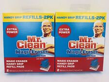 Mr. Clean Magic Eraser Handy Grip Refills (2) 2packs - Total 4 Pads Discontinued