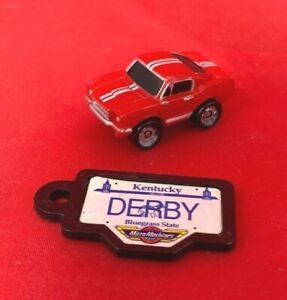 Micro Machines - Red '65 Ford Mustang / Orange Tail Lights - with KY Plate