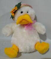 "10""  Cute Super Soft Plush Chubby Stuffed Toy Easter Duck Clean Sunflower Bonnet"