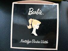 Avon 2002 Limited Edition Nostalgic Barbie Watch in Hat Box Tin - Rare & Htf!