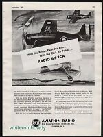 1942 WW II RCA Aviation Radio AD WWII WW2 British Fleet Air Arm