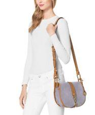 NWT MICHAEL MICHAEL KORS Jamie Large Suede Crossbody Handbag Purse $328 Lilac