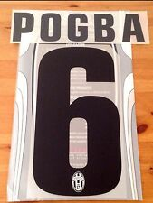 2012-13 Juventus Third & 2013-14 Away Shirt POGBA#6 Official Name Number Set