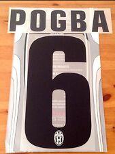 2012-13 JUVENTUS terza & 2013-14 AWAY SHIRT POGBA #6 Set UFFICIALE Nome Numero