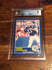 1989 SCORE #27 CHRIS CHANDLER ROOKIE FOOTBALL CARD GRADED BGS 9 MINT