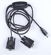 Dual ports Serial RS-232 COM DB9 Male To USB2.0 Adapter Cable USB to 2xRS232