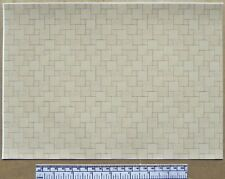 1/12th dolls house self adhesive vinyl - A4 sheet -beige ceramic tile flooring