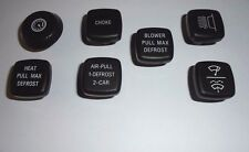 (x7) TRIUMPH TR6     Dashboard Dash Knobs Set     (** From 1973- 76 **)