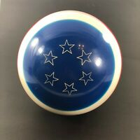 Vintage Ebonite Patriotic Yankee Doodle Red White Blue Bowling Ball 15 lbs.