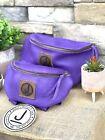 Pommel Bag Leather Handmade, Saddle Sak,Pommel Pocket, Purple LG, Trail Bag
