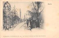 CPA 75 PARIS EXPOSITION UNIVERSELLE 1900 LE TROTTOIR ROULANT AU PONT DES INVALID