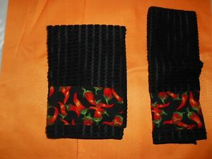 Hot Chili Pepper Bar mop Towel Set Handmade NEW