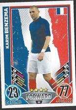 #68 TOPPS - MATCH ATTAX CARD GAME  - ENGLAND 2012 - KARIM BENZEMA - FRANCE
