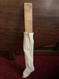 Antique Child's Sock and Wood Stretcher AAFA