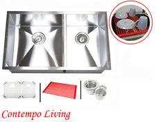 "32"" Stainless Steel Zero Radius Double (60/40) Bowl Undermount  Kitchen Sink"