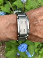 Geneva Men's Silver Tome Rectangular Watch