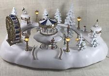 Vtg Trendmasters Christmas Magic Carnival Winter Wonderland Music Animated Skate