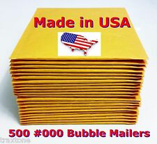 500 #000 4x8 Bubble Mailers Padded Envelopes Bags SelfSeal Usa #000