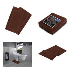 """Towels 21X34"""" Washable Cotton Banded Bath Mat 2Pc Brown Floor HotelSpa TubShower"""