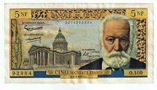 5 Nouveaux francs 1963 VICTOR HUGO (date rare) FRANCE F.56.14 - TB+