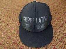 WESC SUPERLATIVE CONSPIRACY TRUCKER HAT MESH BLACK